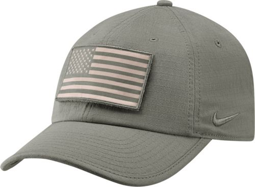 4860054d6e5 Nike Men s LSU Tigers Grey Heritage86 Tactical Adjustable Hat ...