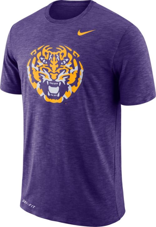 ae4adf0b3 Nike Men s LSU Tigers Purple Dri-FIT Football Sideline Slub T-Shirt.  noImageFound. Previous