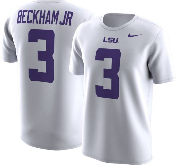 Nike Men's LSU Tigers Odell Beckham Jr.  #3 College Alumni White T-Shirt product image