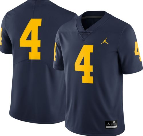 da7a2435f Jordan Men s Michigan Wolverines  4 Blue Limited Football Jersey.  noImageFound. Previous