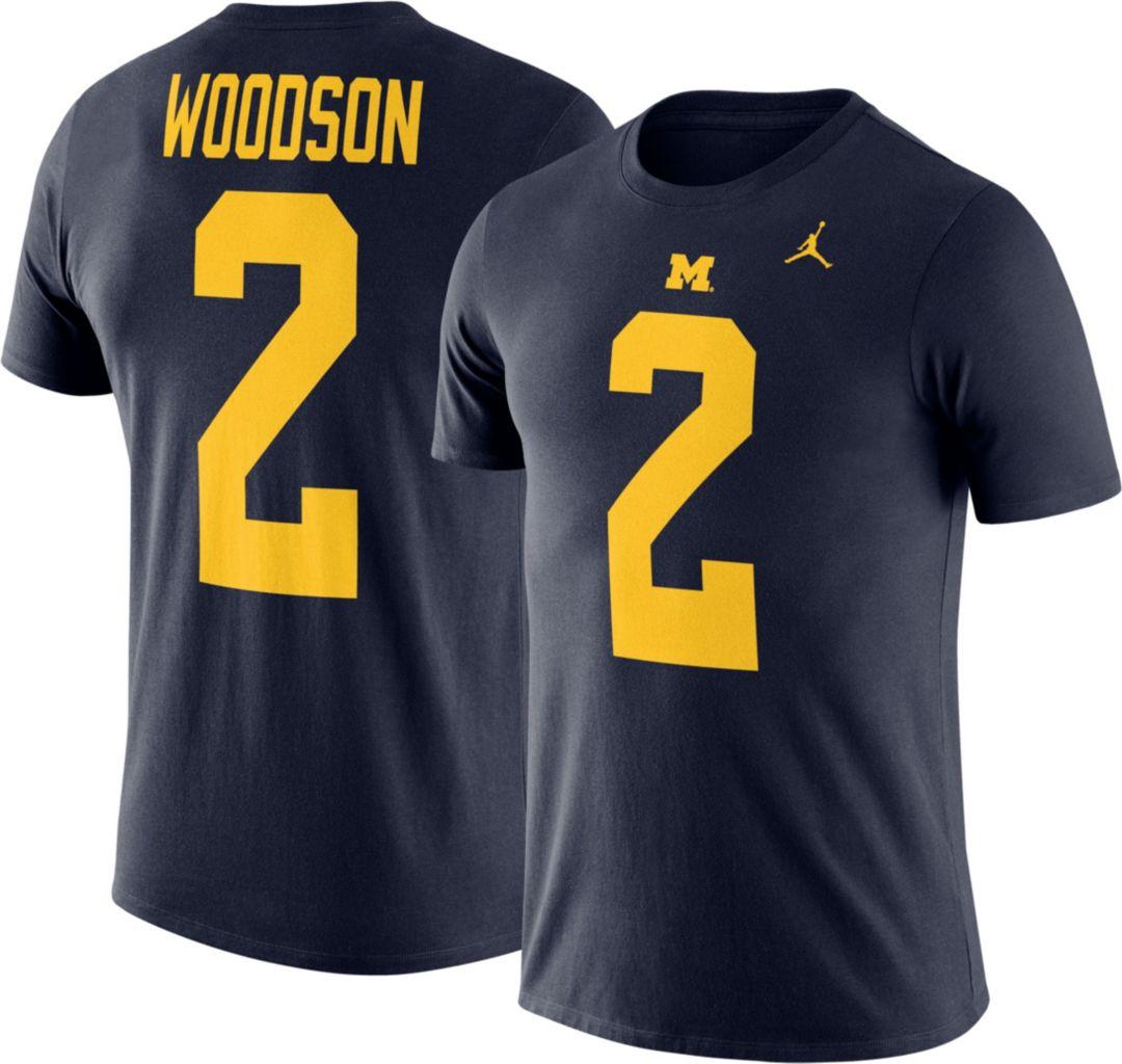 3e5adf313a4 Jordan Men's Michigan Wolverines Charles Woodson #2 Blue Future Star ...