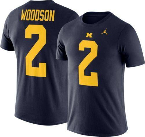 Jordan Men s Michigan Wolverines Charles Woodson  2 Blue Future Star Replica  Football Jersey T-Shirt. noImageFound. Previous 4688c66c3