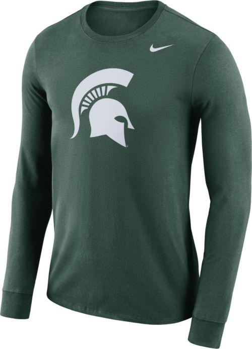 29e0616e Nike Men's Michigan State Spartans Green Dri-FIT Logo Long Sleeve Shirt.  noImageFound. Previous