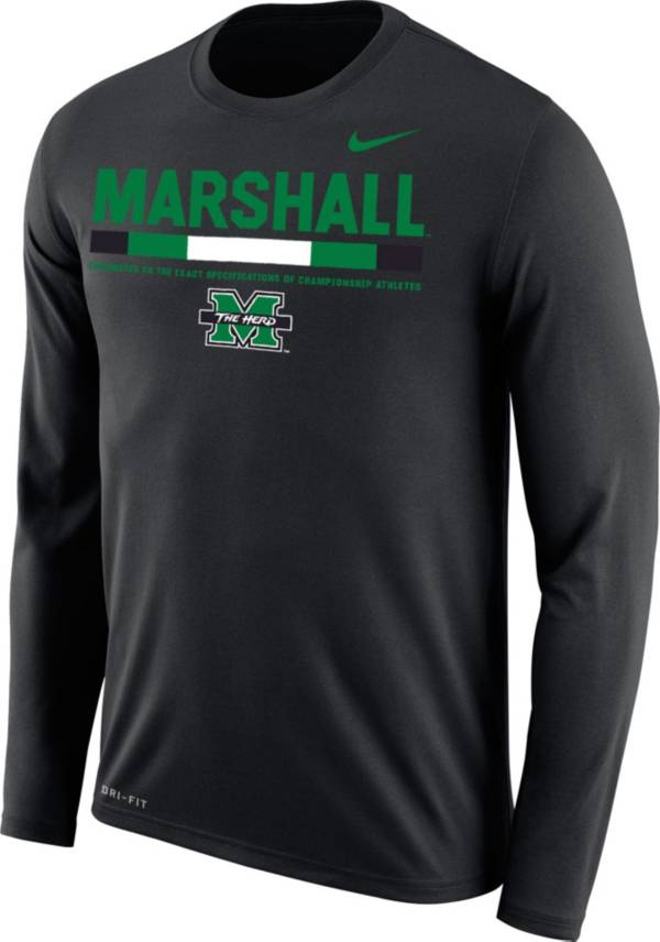 Nike Men's Marshall Thundering Herd Football Sideline Staff Legend Black Long Sleeve Shirt product image