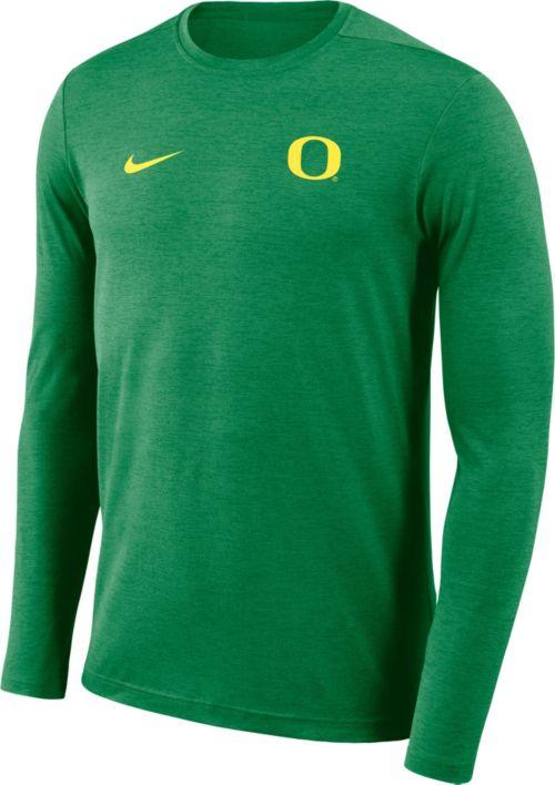 d5e92f37f1dc26 Nike Men s Oregon Ducks Green Football Dri-FIT Coach Long Sleeve T-Shirt.  noImageFound. Previous