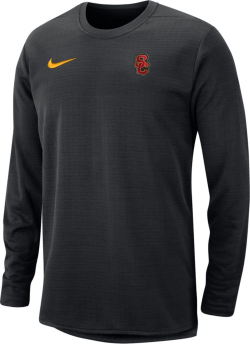 e66de8f28 Nike Men s USC Trojans Modern Football Sideline Crew Black Long Sleeve  Shirt. noImageFound. Previous
