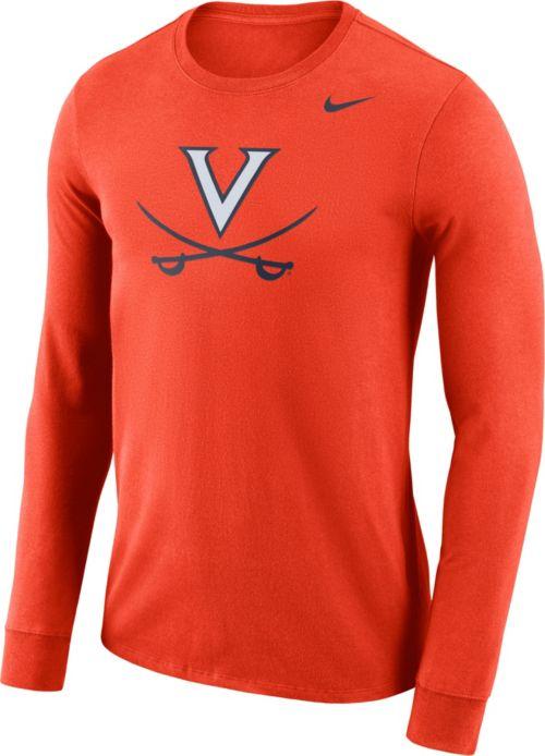 42fcdf82 Nike Men's Virginia Cavaliers Orange Dri-FIT Logo Long Sleeve Shirt.  noImageFound. Previous