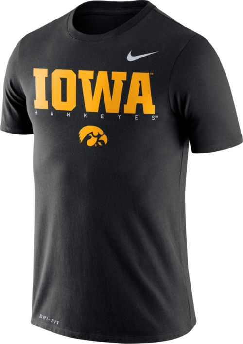 Nike Men s Iowa Hawkeyes Football Dri-FIT Facility Black T-Shirt.  noImageFound. Previous 3c434c58b