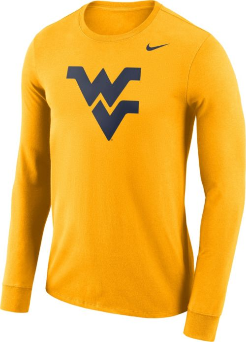 8781ba65 Nike Men's West Virginia Mountaineers Gold Dri-FIT Logo Long Sleeve Shirt.  noImageFound. Previous