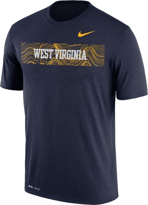 378de9c38 Nike Men s West Virginia Mountaineers Blue Football Sideline Legend T-Shirt.  noImageFound. Previous