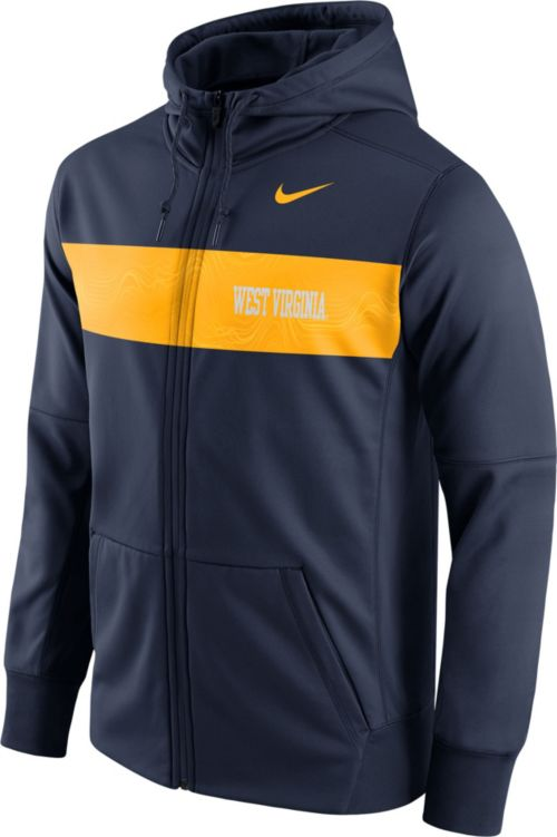 9a3daac88bf Nike Men s West Virginia Mountaineers Blue Therma-FIT Full-Zip ...