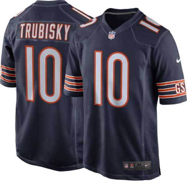 Nike Men's Chicago Bears Mitchell Trubisky #10 Navy Game Jersey product image