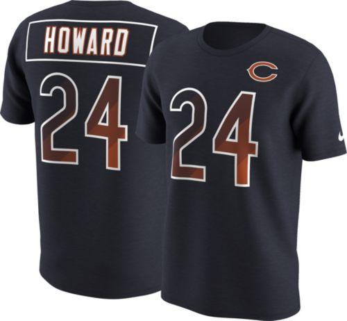 Nike Men s Chicago Bears Jordan Howard  24 Prism Player Navy T-Shirt ... be9ac6ba84ec