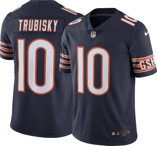 Nike Men's Chicago Bears Mitchell Trubisky #10 Navy Limited Jersey product image