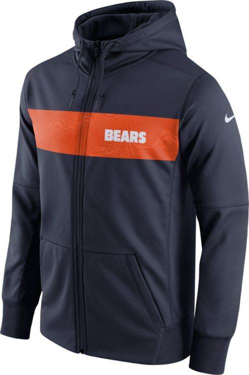 fea2b28a71e2 Nike Men s Chicago Bears Sideline Therma-FIT Navy Full-Zip Hoodie.  noImageFound. Previous