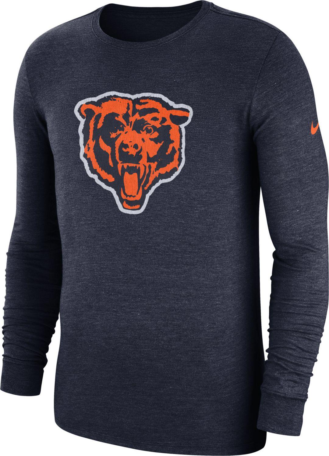 best sneakers afadd 76764 Nike Men s Chicago Bears Tri-Blend Historic Crackle Navy Long Sleeve Shirt.  noImageFound. Previous