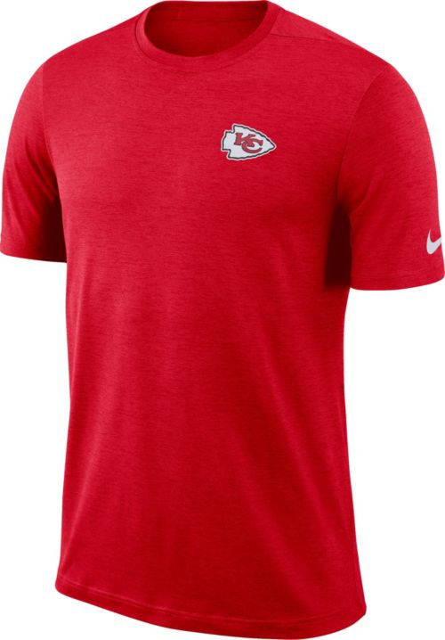 Nike Men s Kansas City Chiefs Sideline Coaches Performance Red T-Shirt 6052deb5d