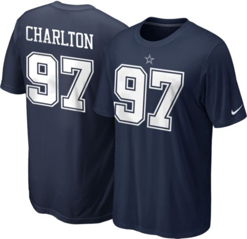 9fcde034a8d Nike Men's Dallas Cowboys Taco Charlton #97 Pride Navy T-Shirt ...