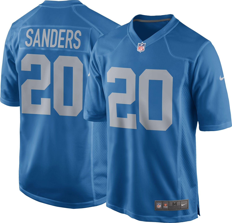 detroit lions sanders jersey