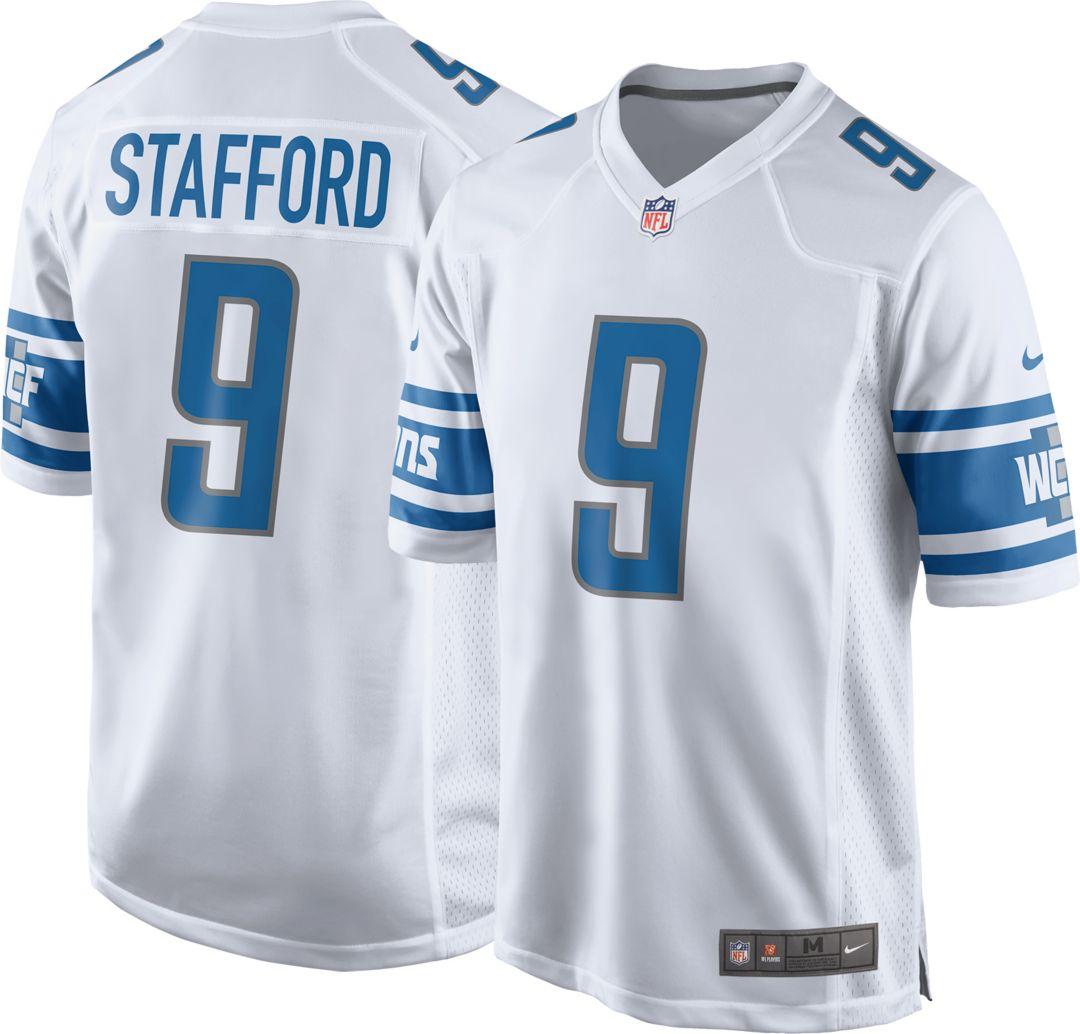 c3c63d1a Nike Men's Away Game Jersey Detroit Lions Matthew Stafford #9
