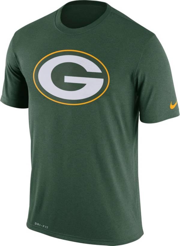 Nike Men's Green Bay Packers Legend Logo Performance Green T-Shirt product image