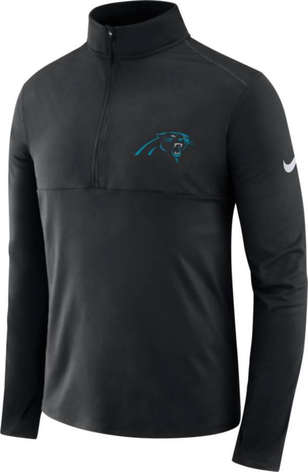 Nike Men's Carolina Panthers Core Performance Black Half-Zip Pullover Top product image