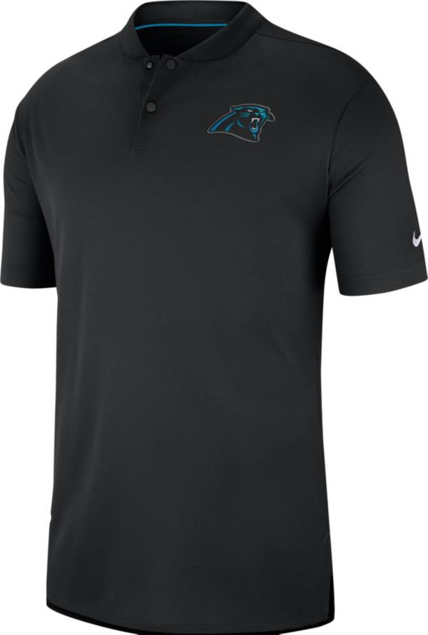 Nike Men's Carolina Panthers Sideline Elite Performance Black Polo product image