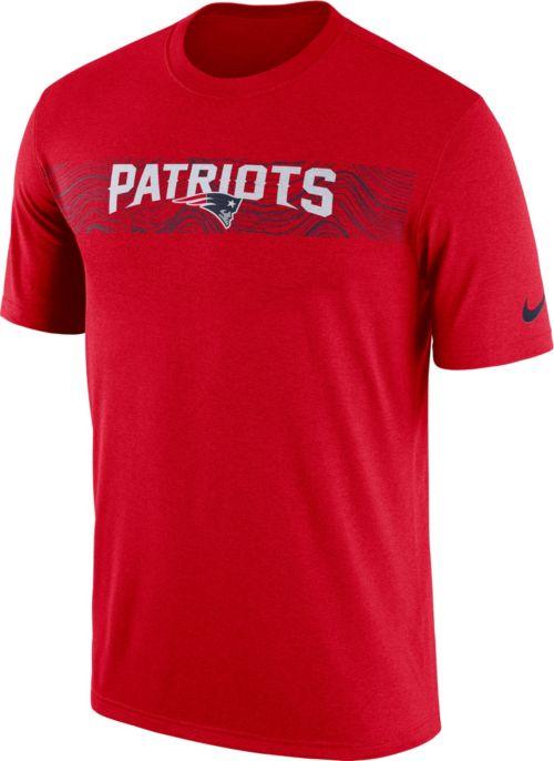 b88354959 Nike Men's New England Patriots Sideline Seismic Legend Performance Red T- Shirt