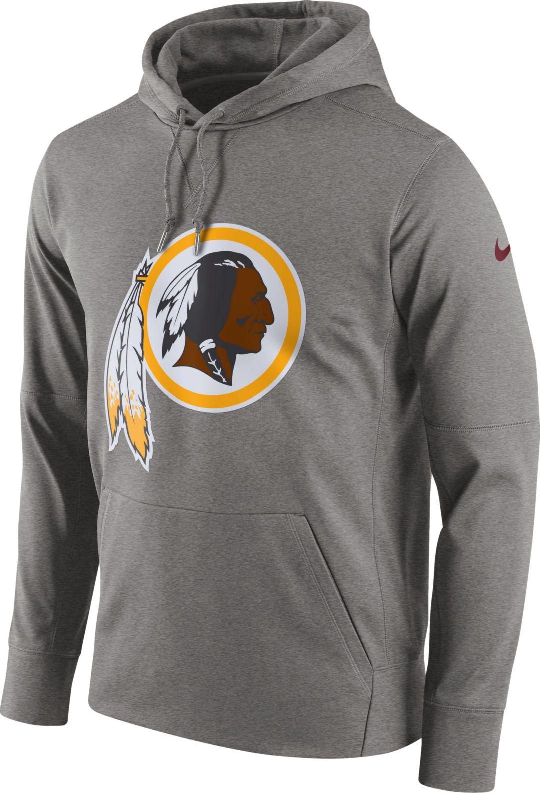 ef15c7bc Nike Men's Washington Redskins Performance Circuit Logo Essential Grey  Hoodie