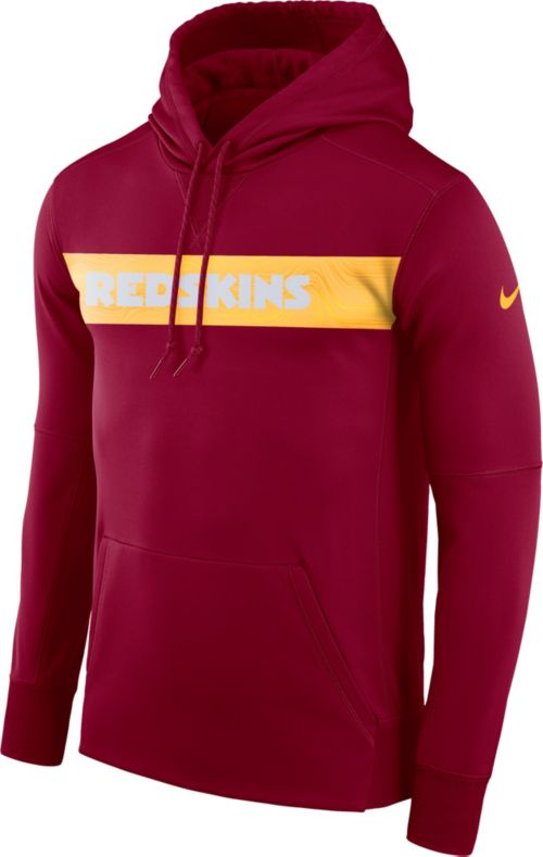 Nike Men s Washington Redskins Sideline Therma-FIT Red Pullover Hoodie.  noImageFound. Previous 050df2156