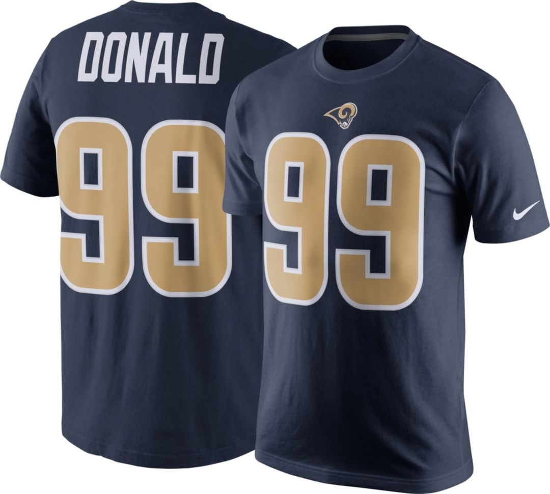 6029c827 Nike Men's Los Angeles Rams Aaron Donald #99 Pride Navy T-Shirt.  noImageFound. Previous