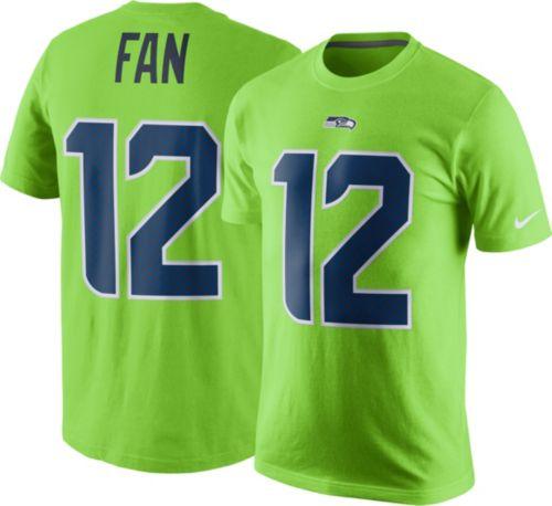 Nike Men s Seattle Seahawks Fan  12 Color Rush Green T-Shirt ... ebb51b4d8