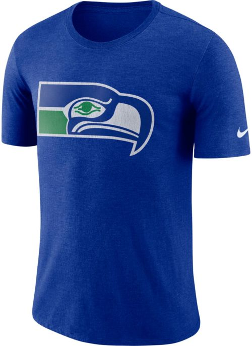 2ce3751c2 Nike Men s Seattle Seahawks Historic Crackle Tri-Blend Royal T-Shirt ...