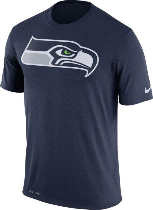 50d3a48a4339b Nike Men's Seattle Seahawks Legend Logo Navy T-Shirt | DICK'S ...