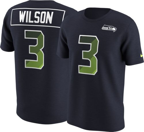 a624a444a42 Nike Men's Seattle Seahawks Russell Wilson #3 Prism Player Navy T-Shirt.  noImageFound. Previous