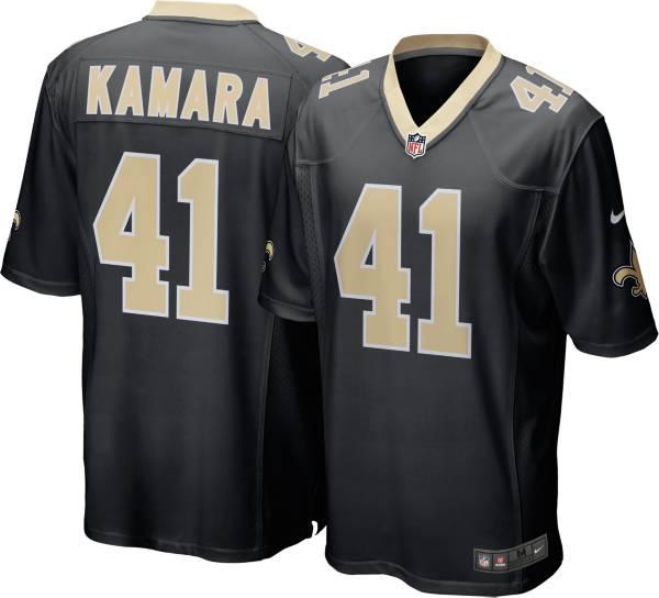 Nike Men's New Orleans Saints Alvin Kamara #41 Black Game Jersey