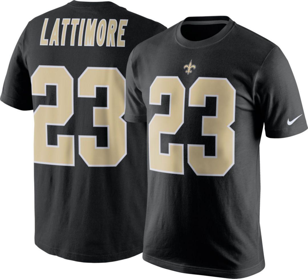 dbfa3d4e Nike Men's New Orleans Saints Marshon Lattimore #23 Pride Black T-Shirt.  noImageFound. Previous