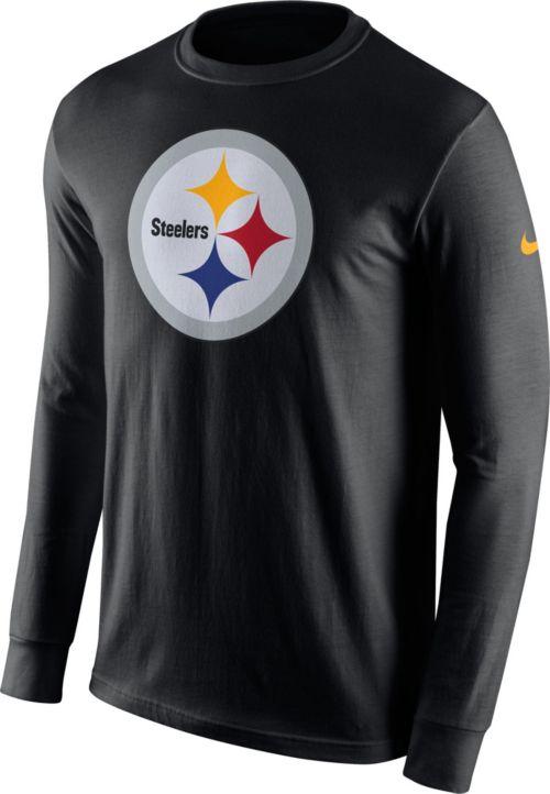 0b9082863 Nike Men s Pittsburgh Steelers Logo Black Long Sleeve Shirt. noImageFound.  Previous