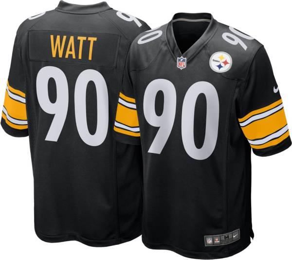 Nike Men's Pittsburgh Steelers T.J. Watt #90 Black Game Jersey product image