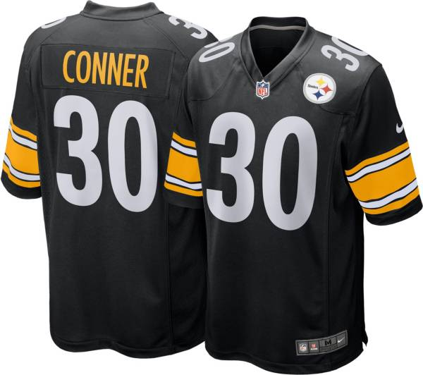 Nike Men's Pittsburgh Steelers James Conner #30 Black Game Jersey product image