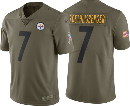 94ec3e419 Nike Men s Home Limited Salute to Service Pittsburgh Steelers Ben  Roethlisberger  7 Jersey. noImageFound. Previous