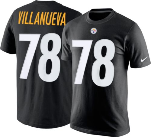 57809da2a7e Nike Men s Pittsburgh Steelers Alejandro Villanueva  78 Pride Black ...