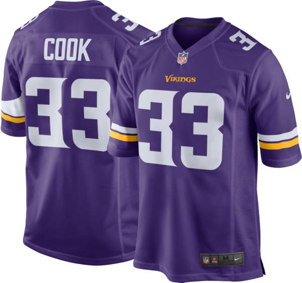 Nike Men's Minnesota Vikings Dalvin Cook #33 Purple Game Jersey product image