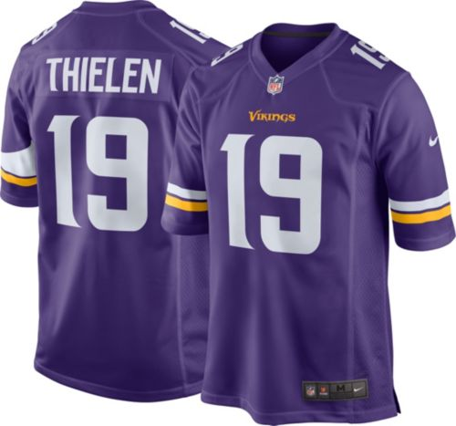 super popular d2f06 78e08 mens minnesota vikings 19 adam thielen nike purple elite jersey
