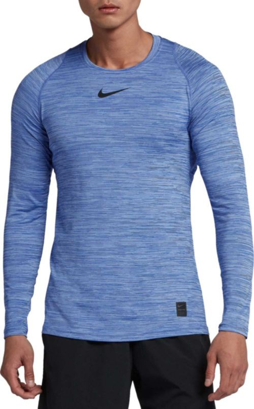 aab25a78 Nike Men's Pro Heather Long Sleeve Fitted Shirt. noImageFound. Previous