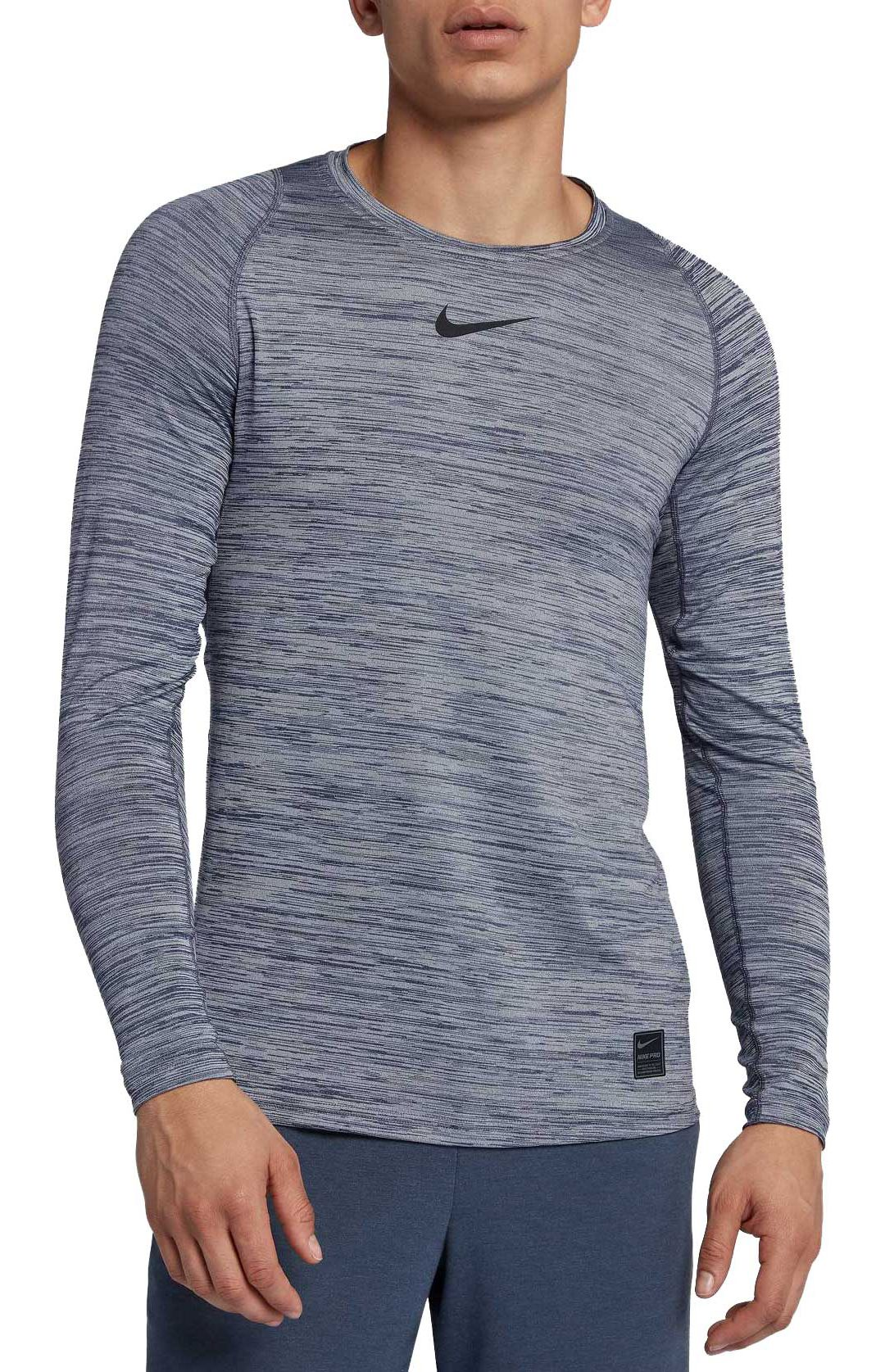 100% authentic recognized brands boy Nike Men's Pro Heather Long Sleeve Fitted Shirt