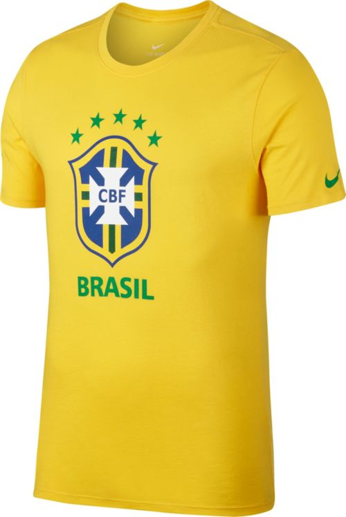 Nike Men s 2018 FIFA World Cup Brazil Crest Yellow T-Shirt  822a1cb85347a
