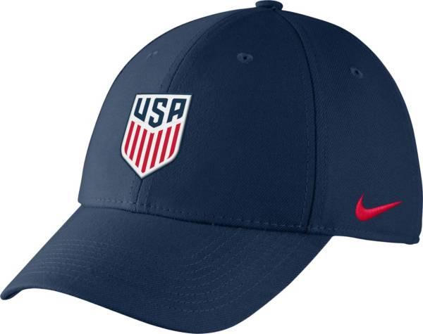 Nike Men's USA Soccer Crest Structured Navy Flex Hat product image