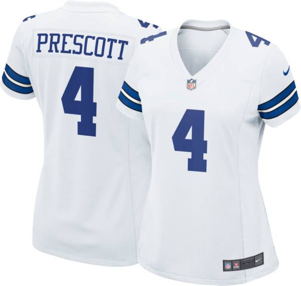 Nike Women's Dallas Cowboys Dak Prescott #4 White Limited Jersey