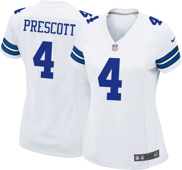 Nike Women's Dallas Cowboys Dak Prescott #4 White Game Jersey product image